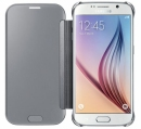 Etui Clear View do Galaxy S6 Silver
